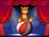 A circus show with a bear — Stock Vector