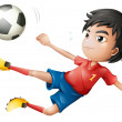 A soccer player - Stock Vector