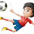 A soccer player — Stock Vector