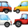 Four cars with different styles - Grafika wektorowa