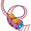A roller coaster ride - Stock Vector