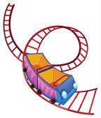 A roller coaster ride — Stock Vector