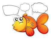 A gold fish and the empty callouts — Stock Vector