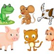 Differrent kinds of land animals - Stock Vector
