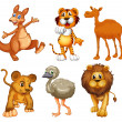 A group of wild animals — Stock Vector