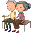 Stock Vector: old couple