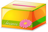 A colorful tissue box — Stock Vector