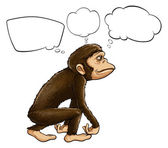 An ape thinking — Stock Vector