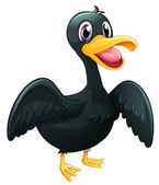 A black duck — Stock Vector