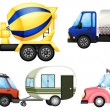 A set of cars — Stock Vector