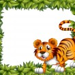 A frame with a tiger — Stock Vector #21505777