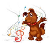 The singing dog — Stock Vector