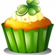 A cupcake for St. Patrick's Day — Stock Vector