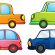 Stock Vector: Different colors of a car