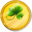 Stock Vector: Token for St. Patrick's Day