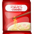 A pack of an instant noodles - Stock Vector