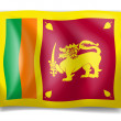Flag of Sri Lanka - Stock Vector