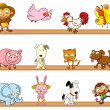Stock Vector: Different kinds of toy animals