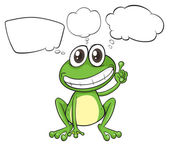 A small frog with empty callouts — Stock Vector