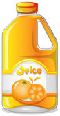 Orange juice in a gallon — Stock Vector