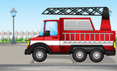 A fire truck at the street — Stockvector