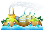 A city with factories — Stock Vector