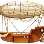 Постер, плакат: An airship