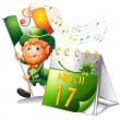 A celebration for St. Patrick — Stock Vector