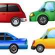 Four different vehicles — Imagen vectorial