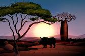 Zachód dekoracje z czworonożnych zwierząt — Wektor stockowy
