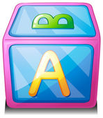 An alphabet cube — Stock Vector