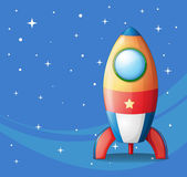 A colorful spaceship — Stock Vector