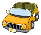 A yellow toy car — Stock Vector
