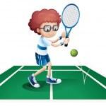 Постер, плакат: An athletic boy