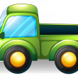 Stock Vector: A green truck