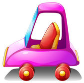 A pink toy car — Stock Vector