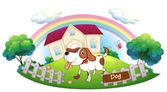 A dog guarding a house — Stock Vector