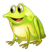 A green bullfrog — Stock Vector
