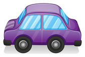 A violet toy car — Stock Vector