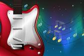 červená elektrická kytara — Stock vektor