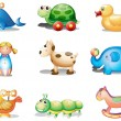 Royalty-Free Stock Vector Image: Different toys for kids