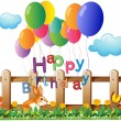 Royalty-Free Stock Vector Image: A happy birthday greeting with balloons
