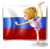 The flag of Russia with a ballet dancer — Stock Vector