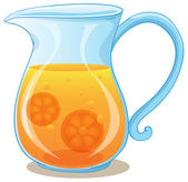 A pitcher of orange juice — Stock Vector