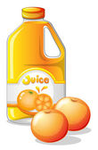 A gallon of orange juice — Stock Vector