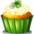 A delicious cupcake for St. Patrick's day — Stock Vector