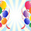 Twelve colorful party balloons — Stock vektor