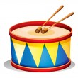 A big toy drum — Stock Vector
