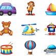 Royalty-Free Stock Vector Image: A collection of toys