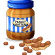 A jar of peanut butter — Stock Vector #22317475
